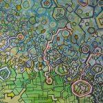 Compositie 840 Gemengde techniek 60 x 90 cm