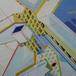 Compositie 102 Gemengde techniek 100 x 80 cm