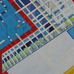 Compositie 027 Gemengde techniek 100 x 80 cm