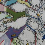 Compositie 883 Gemengde techniek 50 x 40 cm