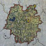 Compositie 422 Gemengde techniek 70 x 60 cm