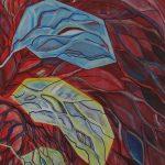 Compositie 194 Gemengde techniek 100 x 70 cm