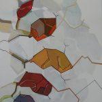 Compositie 025a Gemengde techniek 80 x 70 cm